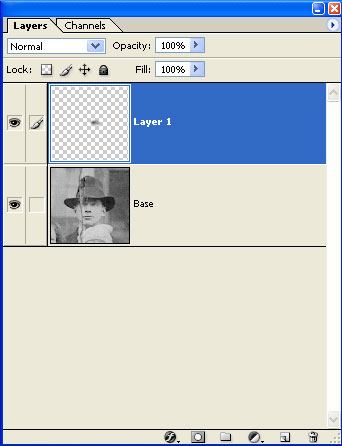 Create a copy of the left eye and place it on its own layer using the <i>New Layer Via Copy</i> command (PC: Ctrl + J, Mac: Command + J)