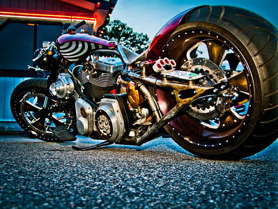 Hooters Bike Night Playing around with HDR