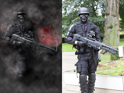 Dark Soldier, before and after