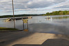 Osburn Ramp at Patoka Lake during the record flooding in May of 2011.  The emergency spillway was used for the first time since the lake was filled in 1978.
