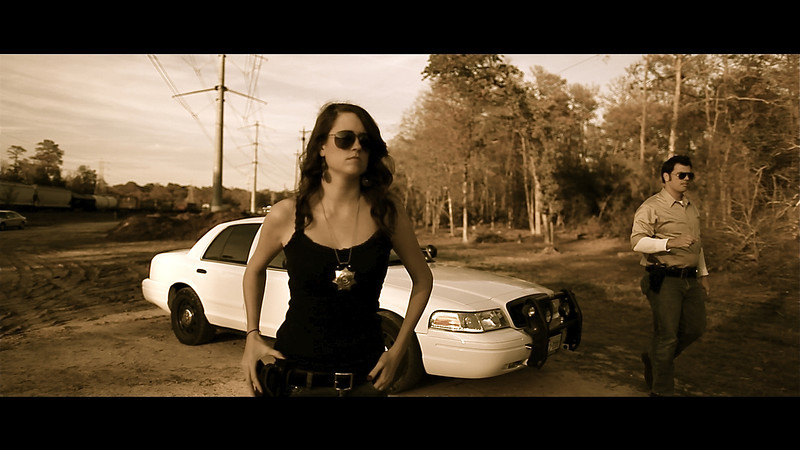 "On set of ""The Legend of Darkhorse County"" ft. Lee Majors & ChaChi Gonzales<br /> Me as Jaylene Summers (sheriffs assistant)."