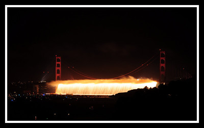 Opening moments of Golden Gate Bridge 75th Anniversary Fireworks Show !