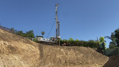 Shoring Pile Excavation, July 2021