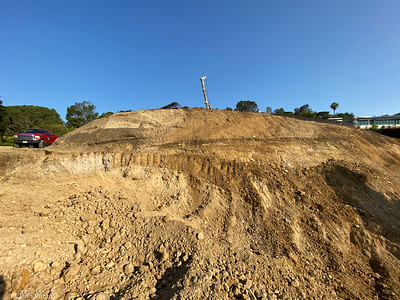 It still looks like an offset soil horizon at the recently active scarp. July, 2021