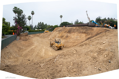 Phase 1 of the temporary excavation is almost complete. July, 2021
