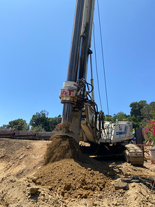 Shoring Pile Excavation, July, 2021.