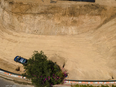 Temporary excavation backcut, July 2021.