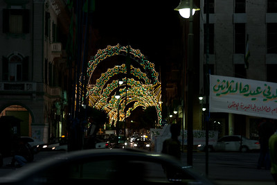 Lights for Prophet's Birthday 2006 near Green Suqare in Tripoli, Libya