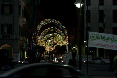 Lights for Prophet's Birthday 2006 near Green Suqare in Tripoli, Libya