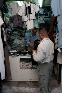 Mel Plesant shopping for cloths in Tripoli, Libya