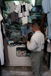Mel Plesant shopping for cloths in Tripoli, Libya