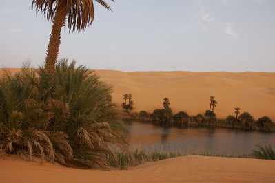 Mandara oasis in the Libyan Sahara