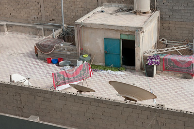 Lots of Satilite dishes may be seen on roof tops in Tripoli Libya