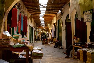 A covered street in Tripoli, Libya