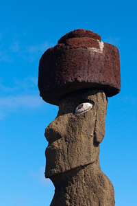 Ahu Tahai Moai with restored eyes