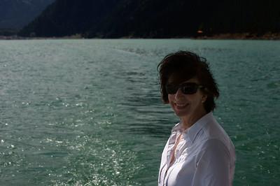 Judi Liang sailing on Lake Tianchi