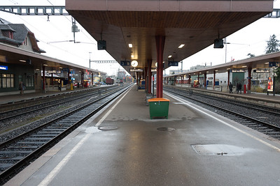 Train station in Wetzikon Switzerland