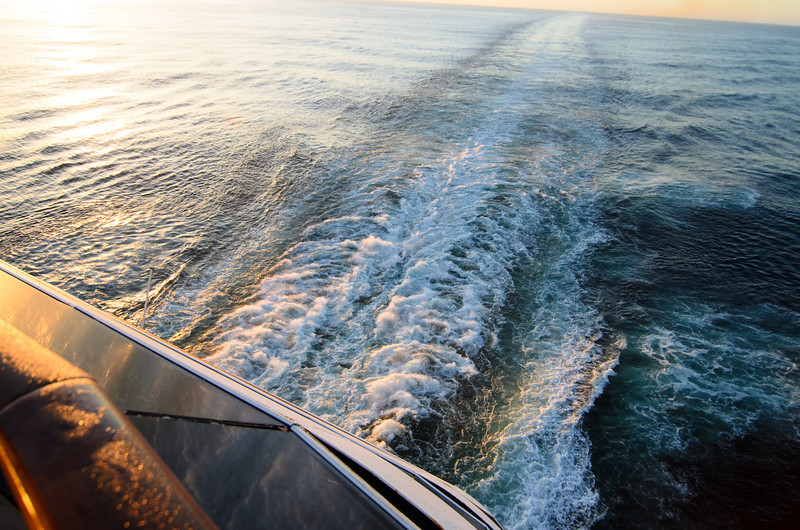 <h1>Day 2 – Sea Day</h1> We slept in a little bit, and I ran upstairs and filled up our sodas and grabbed a couple of plates of breakfast and we sat in our room and enjoyed a beautiful morning at sea.