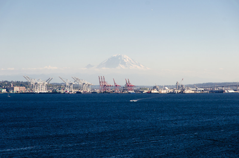 You could see Mt. Rainer off in the distance.