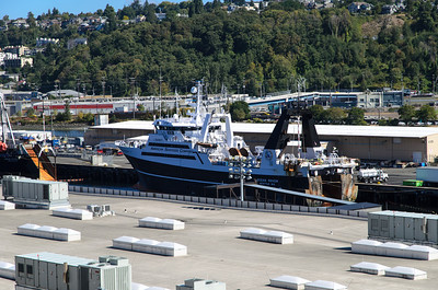 Another, but different, ship docked at Pier 91 in Seattle, WA.