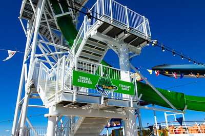These stairs take you up to the mouth of the Green Thunder slide on the Carnival Spirit. I didn't ever see this slide in action on our sailing.