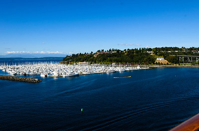 Looking northward at the marina next to Pier 91 in Seattle, WA.