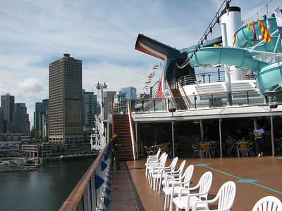 Standing on the Lido deck aft looking down the line.