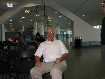Dad waiting at the cruise ship terminal in Vancouver.
