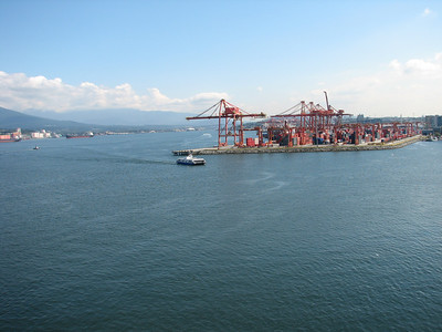 Shipping yard in Vancouver