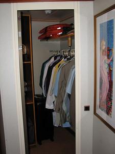 We even had a walk in closet.