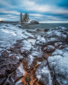 The Island in Winter III