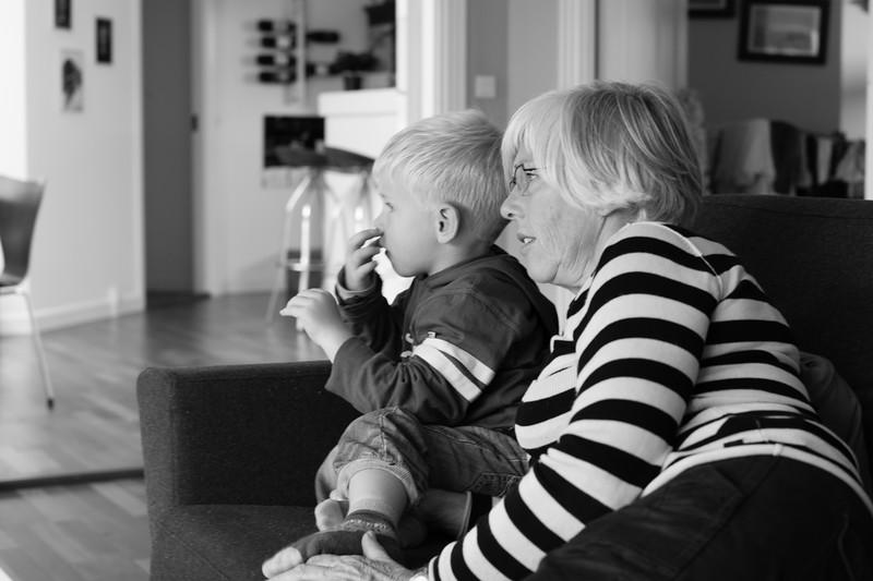 Victor og mormor