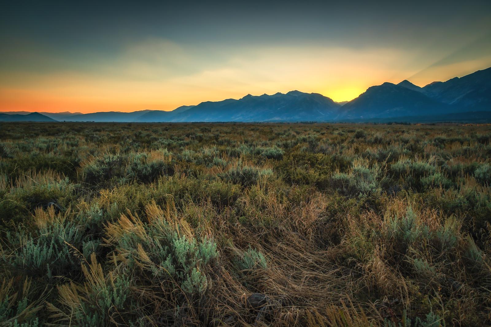 Sunset in Grand Teton NP