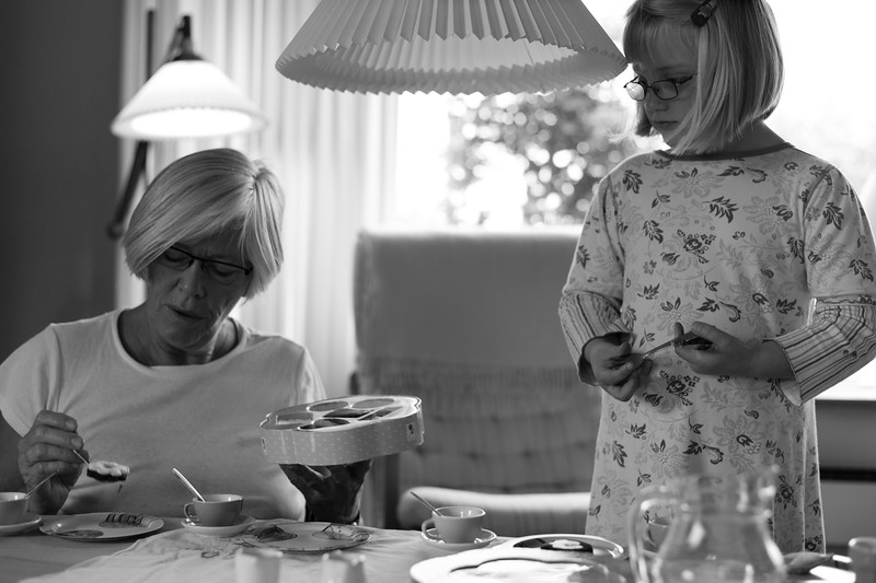 Hekla Ósk og farmor