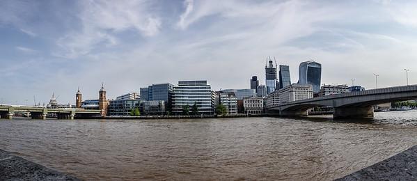Between Southwark and London Bridges
