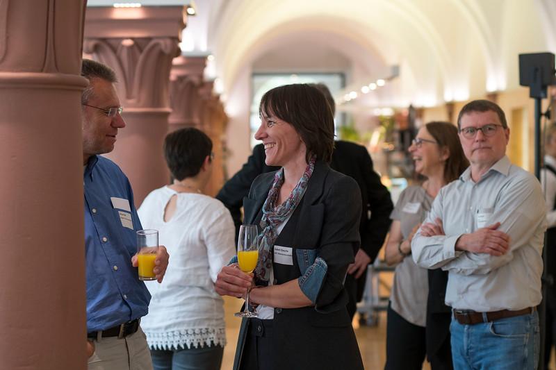 Isabell Ziesche mingling at the Parlamentarischer Abend, Hessen - Land der Naturwälder, Hessischer Landtag. Wiesbaden, Hessen, Germany. © Daniel Rosengren