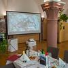 Tables made at the Parlamentarischer Abend, Hessen - Land der Naturwälder, Hessischer Landtag. Wiesbaden, Hessen, Germany. © Daniel Rosengren