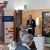 Gerhard Eppler (Landesvorsitzender NABU Hessen) giving a speech at the Parlamentarischer Abend, Hessen - Land der Naturwälder, Hessischer Landtag. Wiesbaden, Hessen, Germany. © Daniel Rosengren