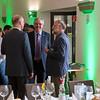 Gerhard Eppler (Landesvorsitzender NABU Hessen) mingling at the Parlamentarischer Abend, Hessen - Land der Naturwälder, Hessischer Landtag. Wiesbaden, Hessen, Germany. © Daniel Rosengren