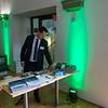 Ralf Sauerbrei (stellv. Vorsitzender HGON) looking at the info available at the Parlamentarischer Abend, Hessen - Land der Naturwälder, Hessischer Landtag. Wiesbaden, Hessen, Germany. © Daniel Rosengren