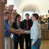Isabell Ziesche and Jörg Nitsch (BUND) mingling at the Parlamentarischer Abend, Hessen - Land der Naturwälder, Hessischer Landtag. Wiesbaden, Hessen, Germany. © Daniel Rosengren