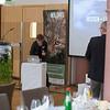 Kirstin Ulrichs preparing stuff at the Parlamentarischer Abend, Hessen - Land der Naturwälder, Hessischer Landtag. Wiesbaden, Hessen, Germany. © Daniel Rosengren