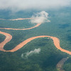 An aerial photo of the rain forest and rivers near Peurto Maldonado, Peru. © Daniel Rosengren