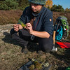 A student doing research in the area. Lieberose, Brandenburg, Germany. © Daniel Rosengren / FZS