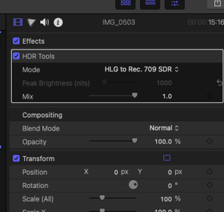 Editing HDR Dolby Vision footage