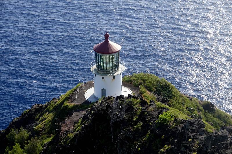 The Makapuu lighthouse on Oahu