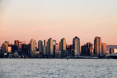 San Diego skyline from Harbor Island Park