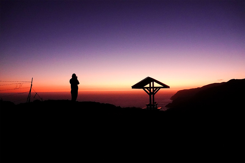 On a Photowalk of Santa Catalina island, off the Los Angeles coast, Kristin Leigh Metcalfe takes Jefferson Graham to her favorite hidden spot on the island, near Two Harbors, to catch the sunset. Here she is, post sunset. Photo by Jefferson Graham