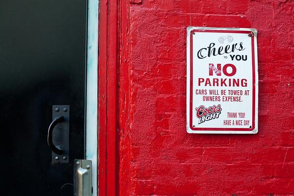 Cheers, No Parking