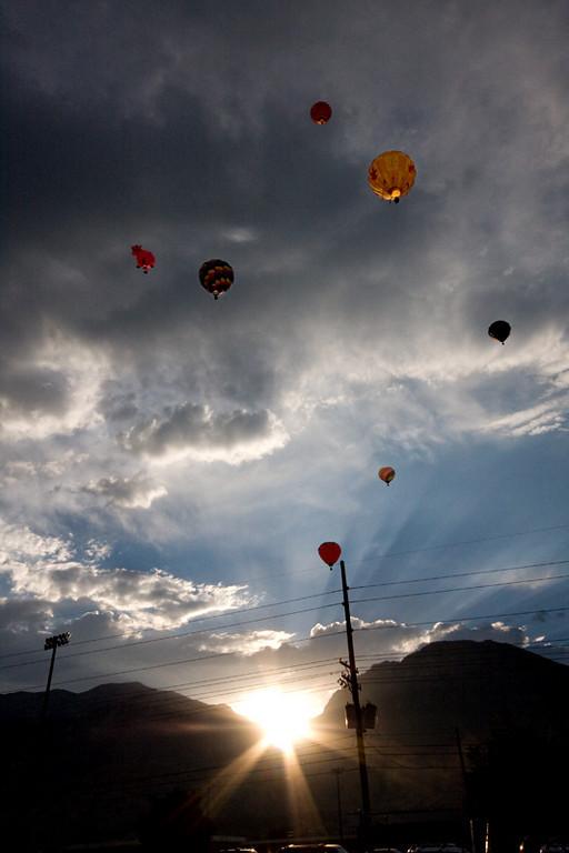 Balloons Sunrise